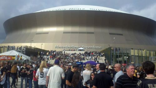 Outside the Superdome before a Saints game