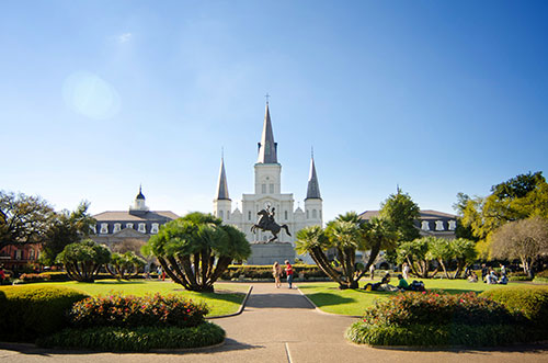 Jackson Square during the day