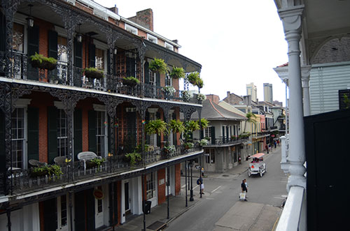 New Orleans hotel balcony