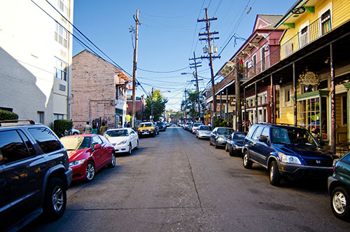 typical New Orleans city street