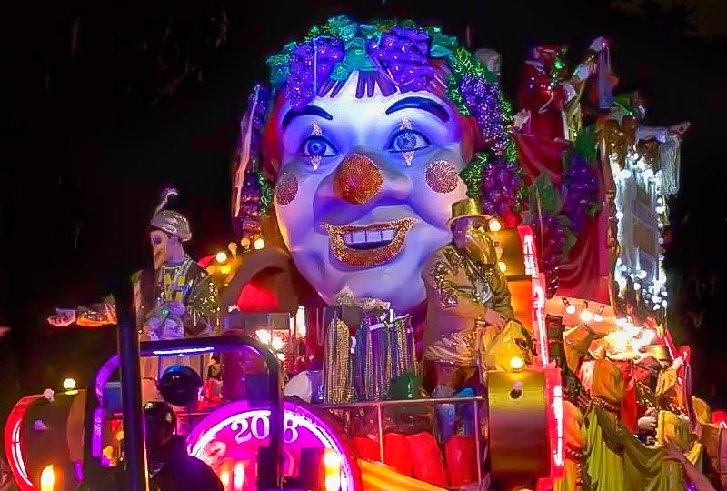 Mardi Gras World Parade Float